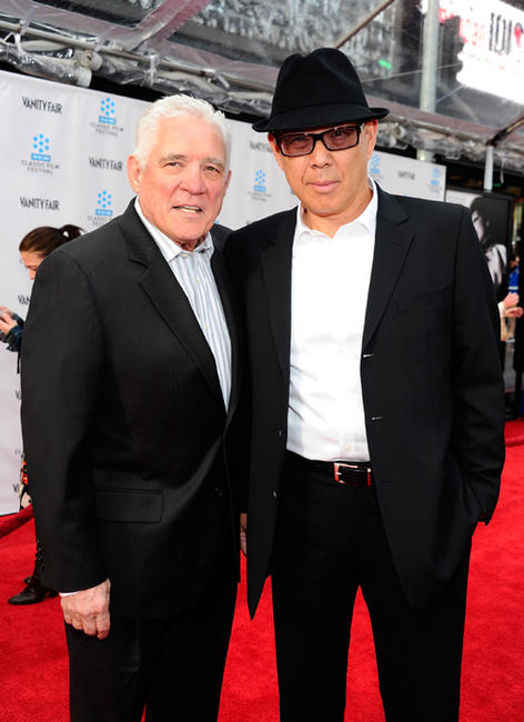 G.W. Bailey and Michael Paul Chan at the 2012 TCM Classic Film Festival opening night premiere of 40th Anniversary Restoration of