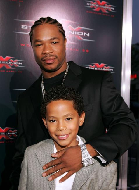 Xzibit and son Tremaine at the premiere of