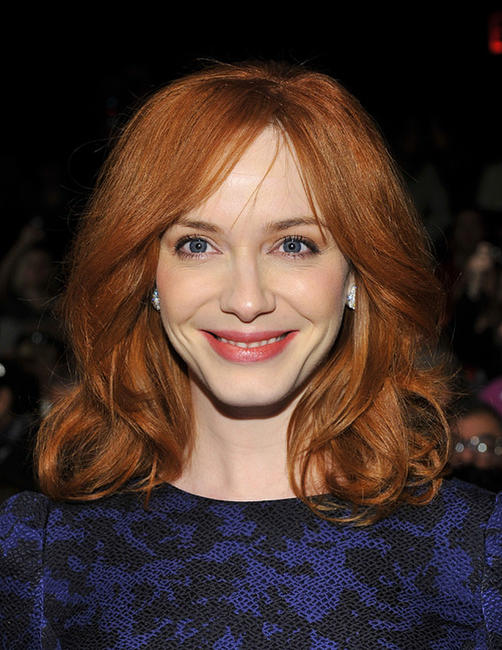 Christina Hendricks at the Carolina Herrera Fall 2011 fashion show during the Mercedes-Benz Fashion Week.