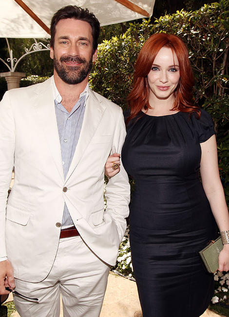 Jon Hamm and Christina Hendricks at the Critic's Choice Television Awards in California.
