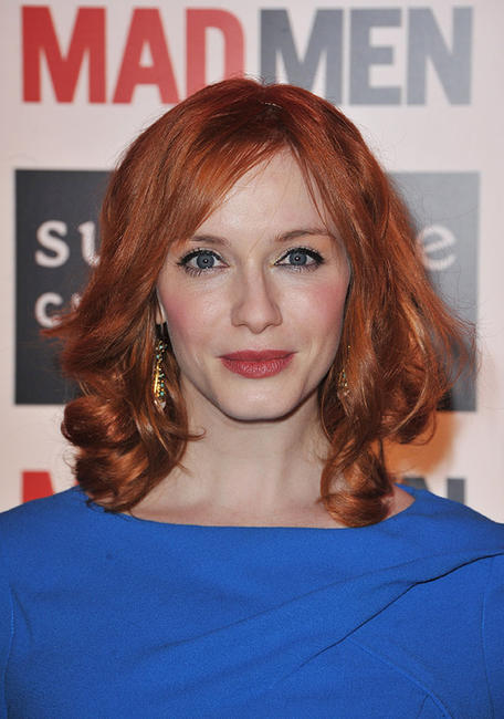 Christina Hendricks at the Sundance Channel's Mad Men Gala Event in Paris.