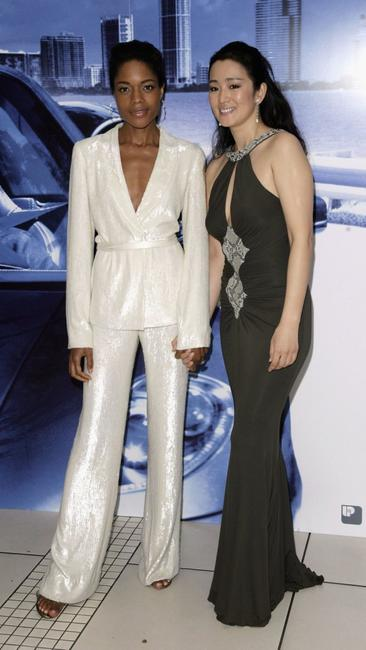 Naomie Harris and Gong Li at the European premiere of