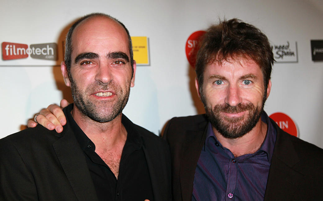Luis Tosar and Antonio de la Torre at the opening night gala of Recent Spanish Cinema Series 2010 in California.