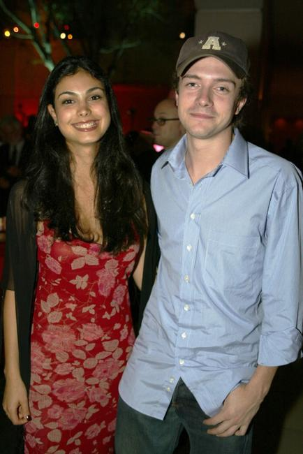 Morena Baccarin and Topher Grace at the after party of the premiere of