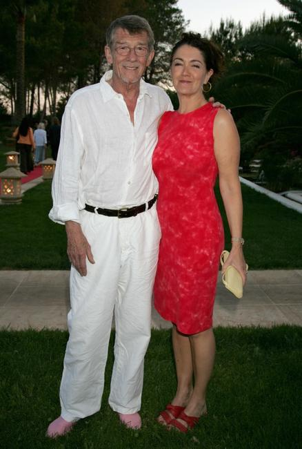 John Hurt and and his wife Ann Rees Meyers at the Ibiza and Formentera International Film Festival.