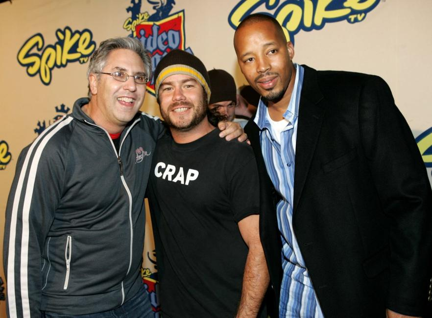 President of Spike TV Albie Hecht, Chris Pontius and Warren G at the 2004 Spike TV Video Game Awards.