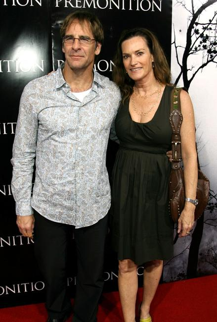 Scott Bakula and his wife Chelsea at the TriStar premiere of