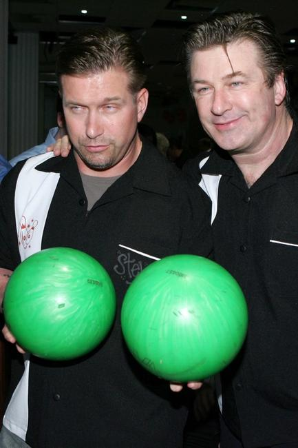 Alec Baldwin and Stephen Baldwin at the the 20th Anniversary of Second Stage Theatre All Star Bowling Classic.