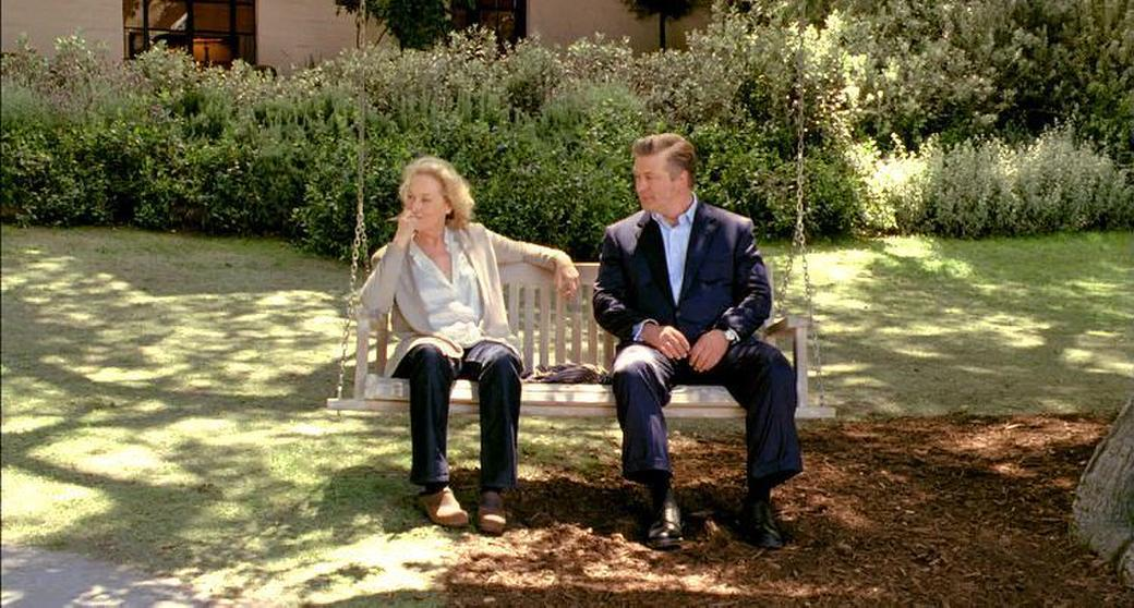 Meryl Streep as Jane and Alec Baldwin as Jake in