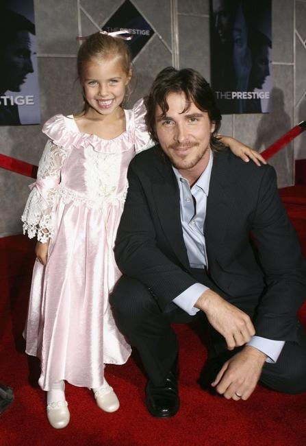 Samantha Mahurin and Christian Bale at the premiere of
