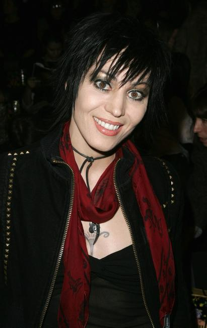 Joan Jett at the Anna Sui Fall 2007 fashion show during the Mercedes-Benz Fashion Week.