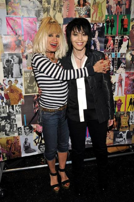 Betsey Johnson and Joan Jett at the 2008 fashion show during the Mercedes-Benz Fashion Week Fall 2008.