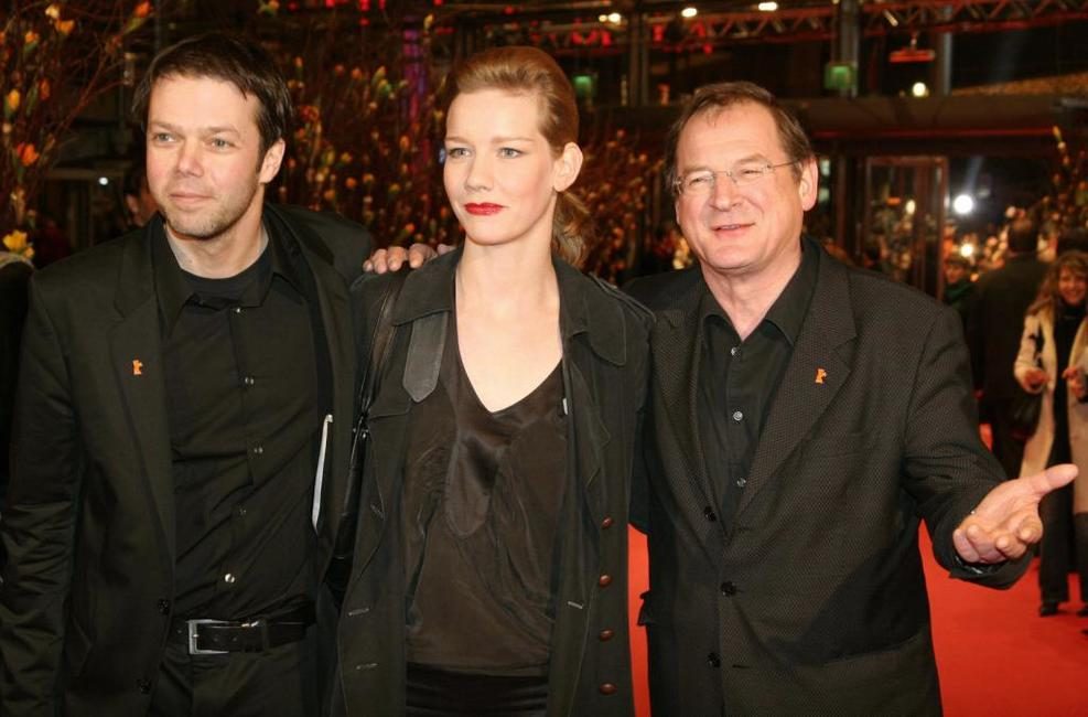 Director Hans-Christian Schmid, Sandra Hueller and Burghart Klaussner at the 56th Berlinale Film Festival.