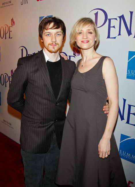 Actors James McAvoy and Anne-Marie Duff at the L.A. premiere of