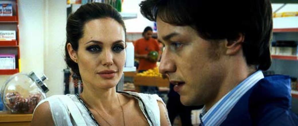 Angelina Jolie and James McAvoy in