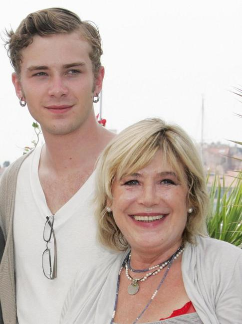Elias McConnell and Marianne Faithfull at the photocall of