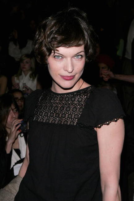 Milla Jovovich at the Zac Posen Fall 2006 show.