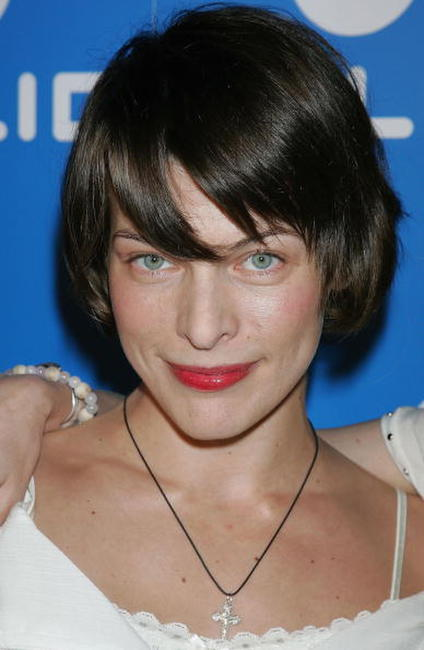 Milla Jovovich at the Helio Summer Party Launch Party.