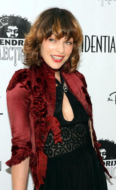 Milla Jovovich at LA Confidential Magazine's Annual Oscar Party.