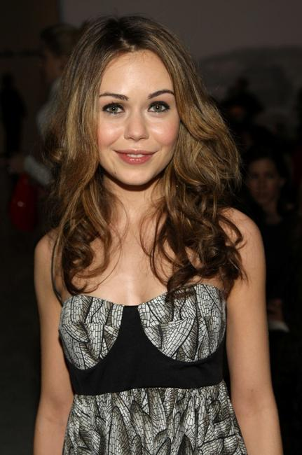 Alexis Dziena at the Pamella Roland 2008 fashion show.