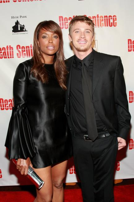 Aisha Tyler and Garrett Hedlund at the premiere of