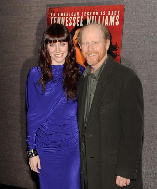 Bryce Dallas Howard and Ron Howard at the premiere of