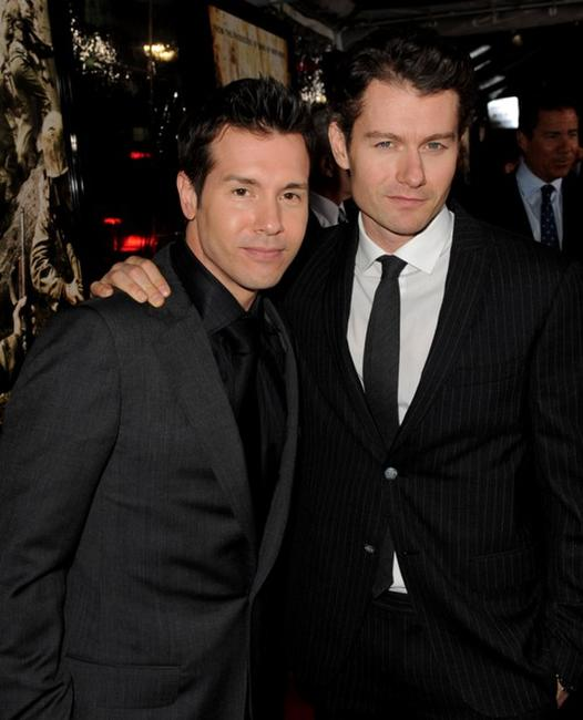 Jon Seda and James Badge Dale at the premiere of