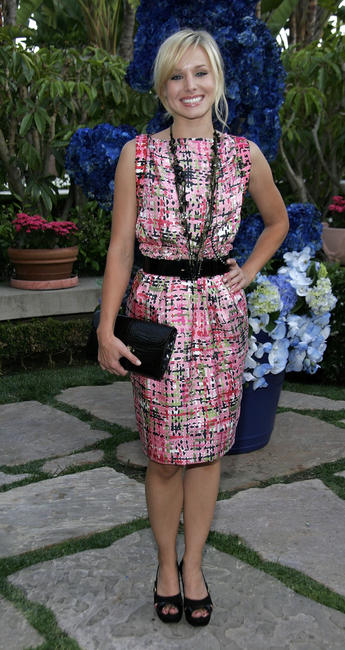 Kristen Bell at the YSL pool party in Beverly Hills.