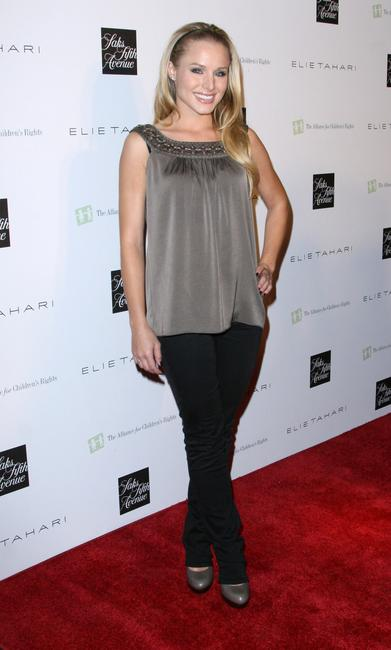 Kristen Bell at the launch of the new Elie Tahari boutique within Saks Fifth Avenue Beverly Hills in Beverly Hills.