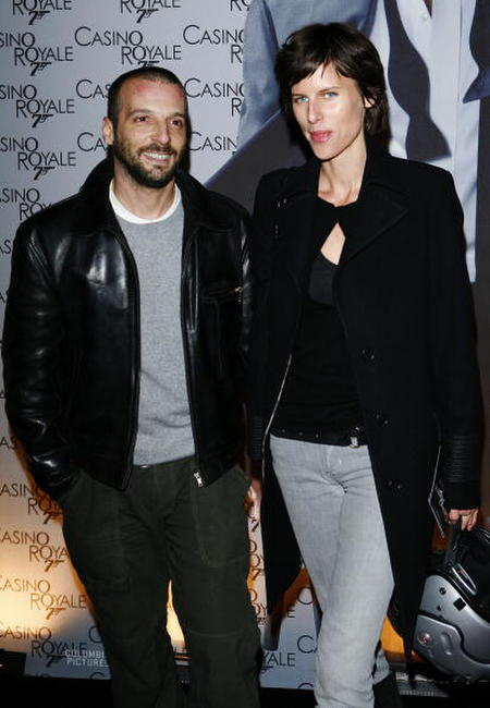 Mathieu Kassovitz and wife at the Paris premiere of