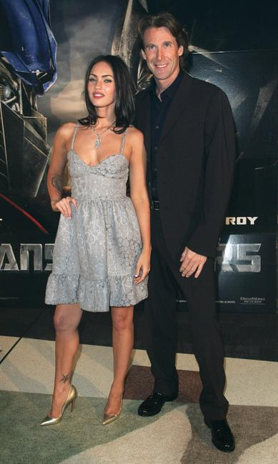 Megan Fox and Michael Bay at the special event celebrity screening of