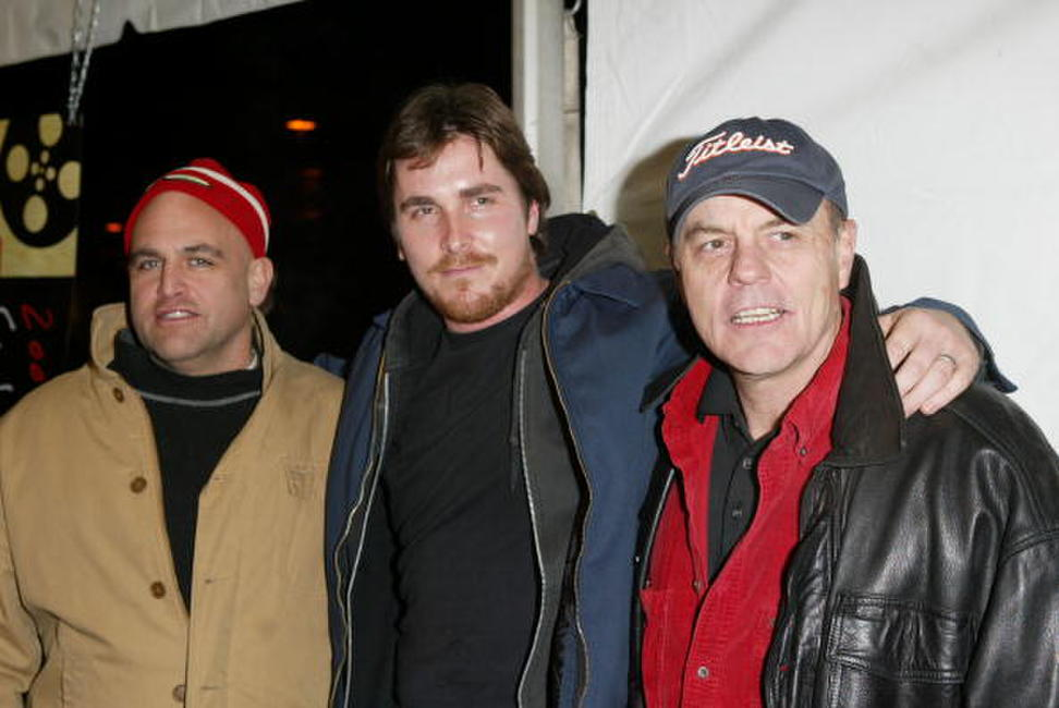 John Sharian, Christian Bale and Michael Ironside at the premiere of