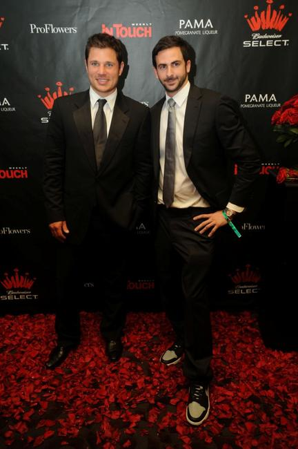 Nick Lachey and Mike Satsky at the Budweiser Official Kentucky Derby Pre party.