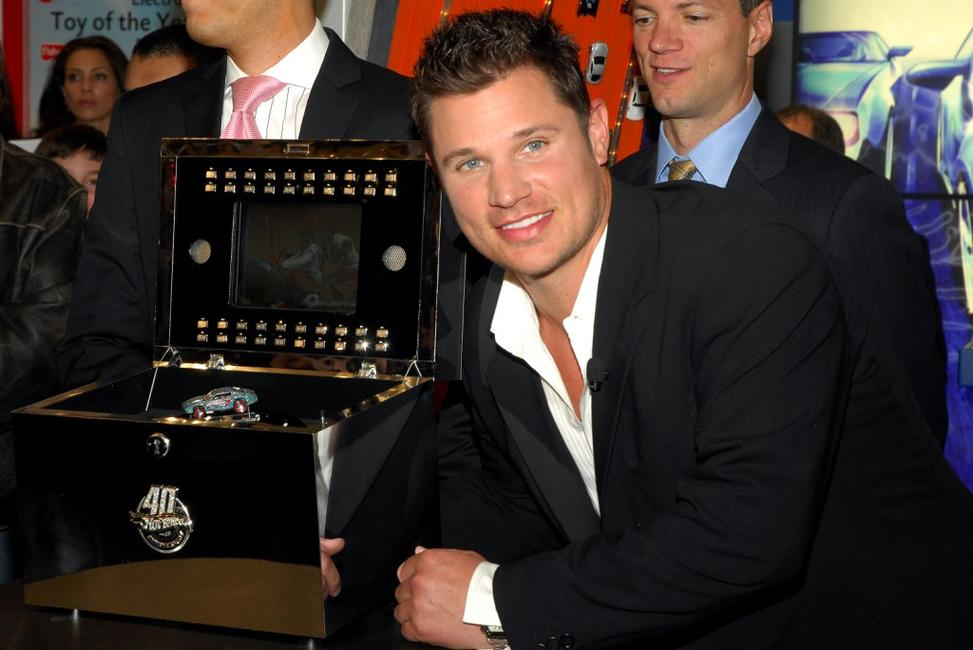 Nick Lachey at the 40th Anniversary of Hot Wheels.