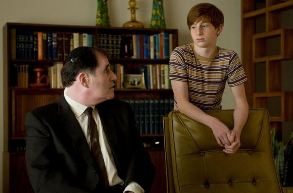 Richard Kind as Uncle Arthur and Aaron Wolf as Danny Gopnik in