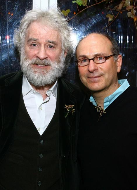 Kevin Kline and James Lapine at the post-performance party of the opening night of King Lear.