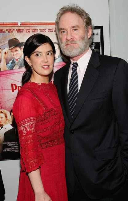 Kevin Kline and Phoebe Cates at the premiere of