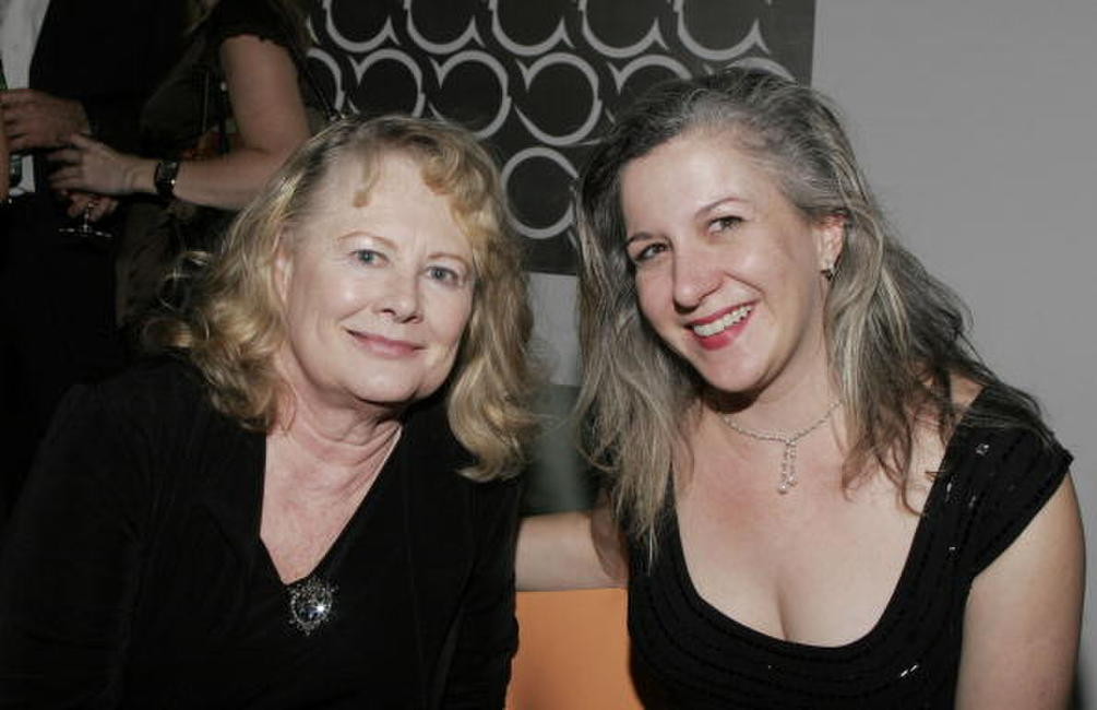 Shirley Knight and Eleanor Holdridge at the opening night after party of