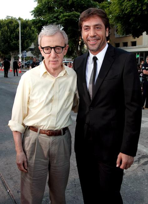 Director Woody Allen and Javier Bardem at the Los Angeles premiere of