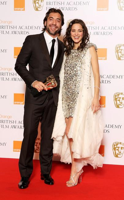 Javier Bardem and Marion Cotillard at the Orange British Academy Film Awards.