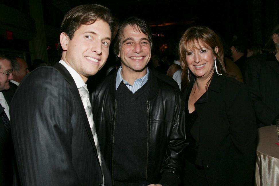 Peter Cincotti, Tony Danza and Caroline Aaron at the after party of the New York premiere of