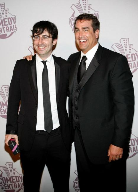 John Oliver and Rob Riggle at the Comedy Central's Emmy Awards.