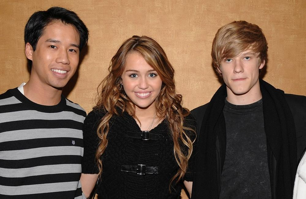 Jared Eng, Miley Cyrus and Lucas Till at the screening of