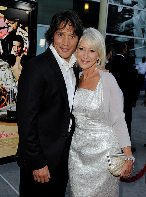 Sergio Peris-Mencheta and Helen Mirren at the California premiere of
