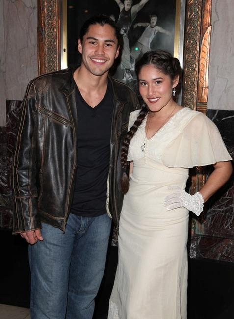 Martin Sensmeier and Q'orianka Kilcher at the opening night of