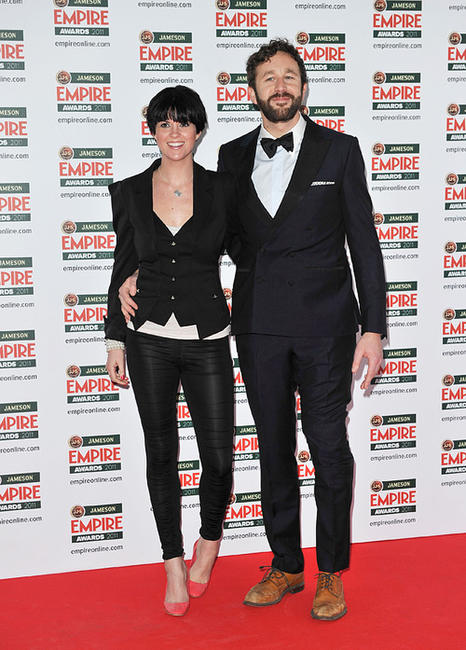 Dawn Porter and Chris O'Dowd at the Jameson Empire Awards in London.