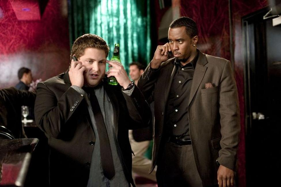 Jonah Hill and Sean Combs in