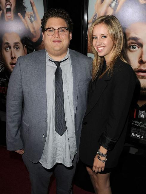 Jonah Hill and Jordan Klein at the California premiere of