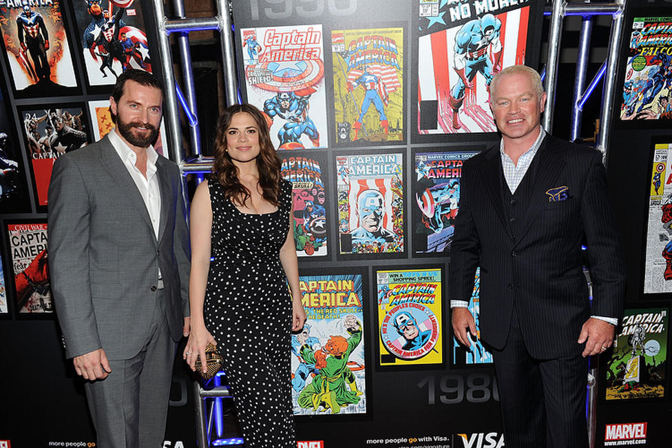 Richard Armitage, Hayley Atwell and Neal McDonough at the Visa Signature Screening of