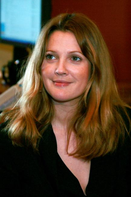 Drew Barrymore at the press conference at Capitol.